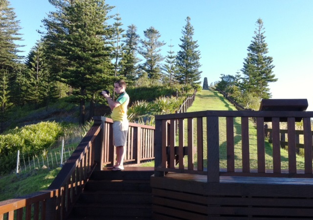 Chris at Captain Cook Lookout Norfolk Island