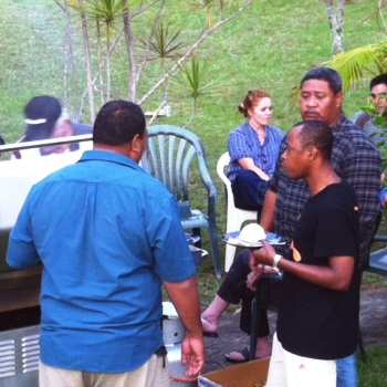 Group BBQ in Mokutu's great outdoors